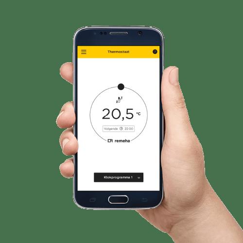 eTwist via de app op de telefoon bedienen